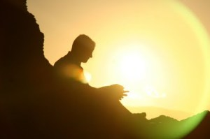 Meditationsillouette